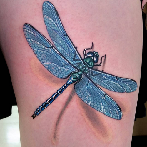 3d dragonfly tattoos