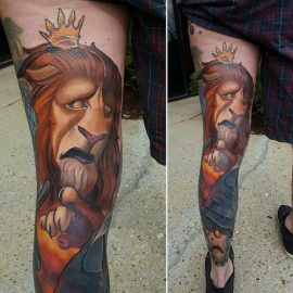 animated lion tattoos