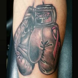 Boxing Gloves Cancer Tattoos