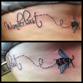 Bumblebee Tattoo With Name
