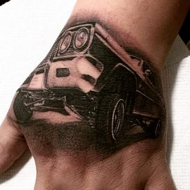 Car Tattoo on Wrist