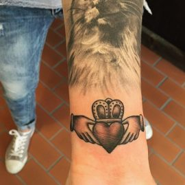 Claddagh Wrist Tattoos