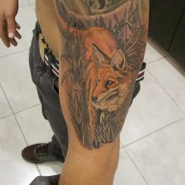 cool fox tattoos