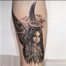 Cute angel tattoo