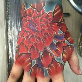 Pictures of Chrysanthemum Flowers Tattoos