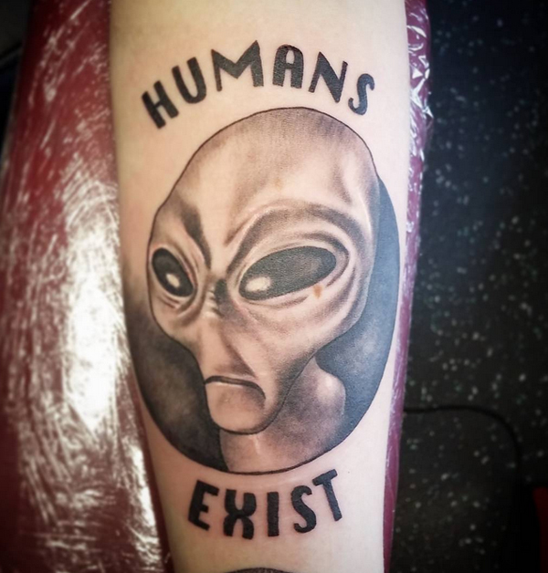 Tattoos of Alien With Big Eyes 13