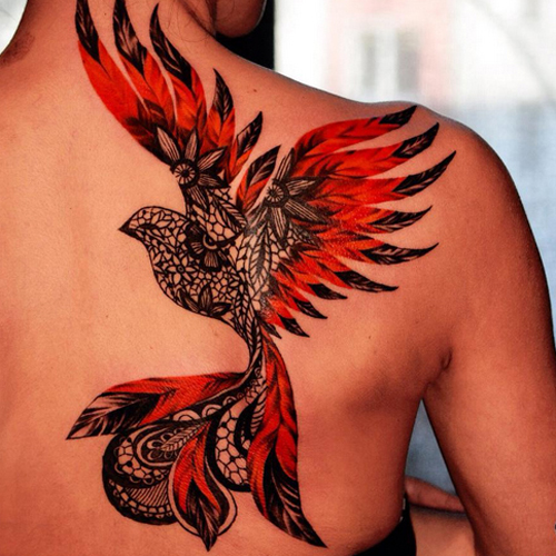 The Firebird Tattoo on The Back Girl
