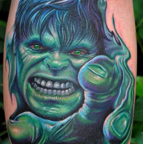 The Hulk Tattoos