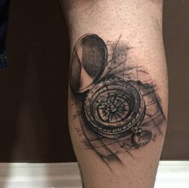 3d compass tattoos
