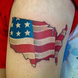 cool american flag tattoos