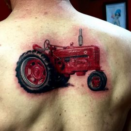 Country Tattoos Ideas Tractor Tattoos