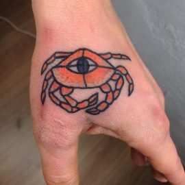 crab tattoos designs