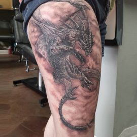 fantasy dragon tattoos