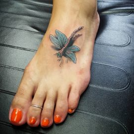 realistic dragonfly tattoos