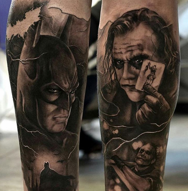 Batman and Joker Tattoos 1