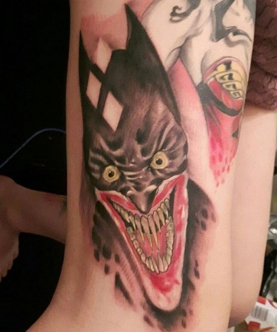 Batman and Joker Tattoos 8