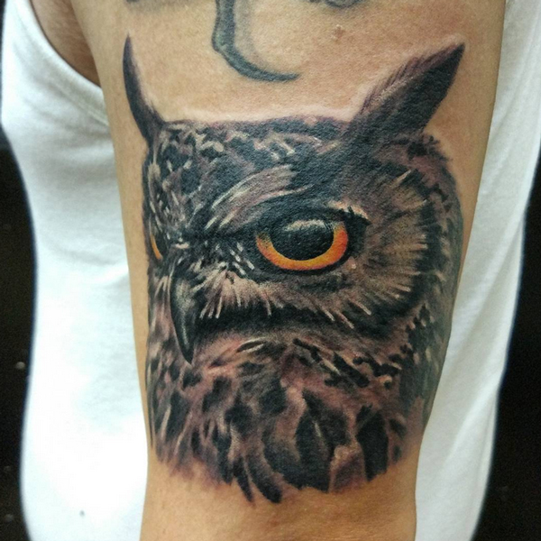 Owl Face Tattoo 17