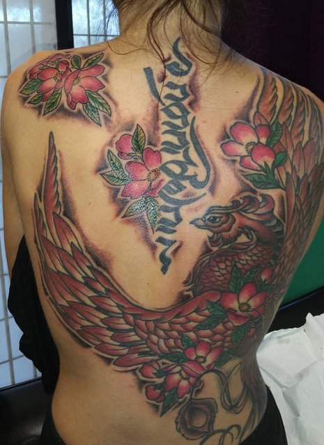 Phoenix Tattoo on Back 5