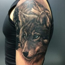 pictures of wolf tattoos