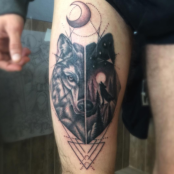 Pictures of Wolf Tattoos 4