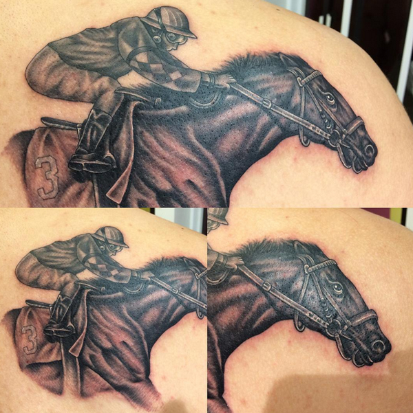 race horse tattoo