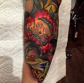 red eye tree frog tattoo