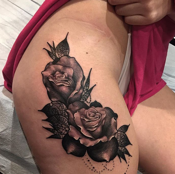 Roses Tattoos Designs 7