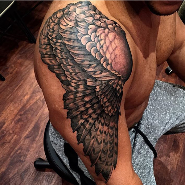 shoulder wings tattoo