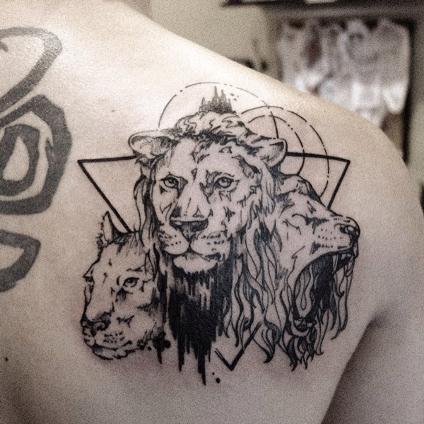 three lions tattoo