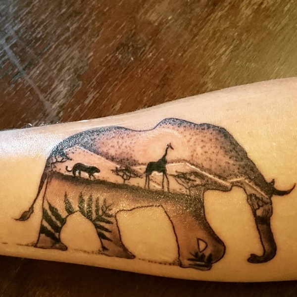 african elephant tattoos