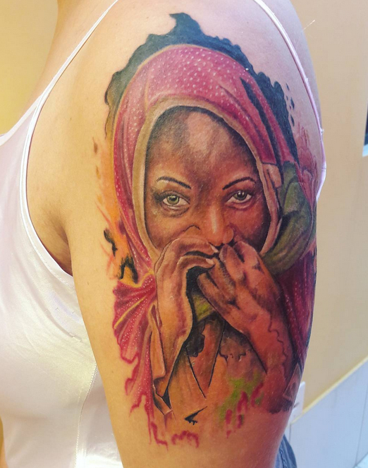 African Woman Tattoo 9