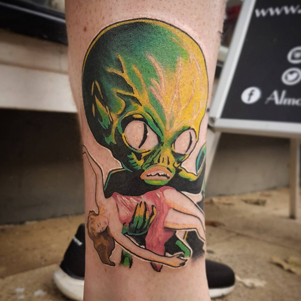 alien tattoo ideas