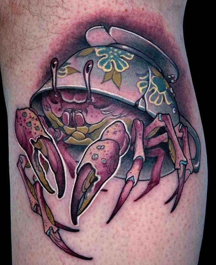 Cancer Crab Tattoo.