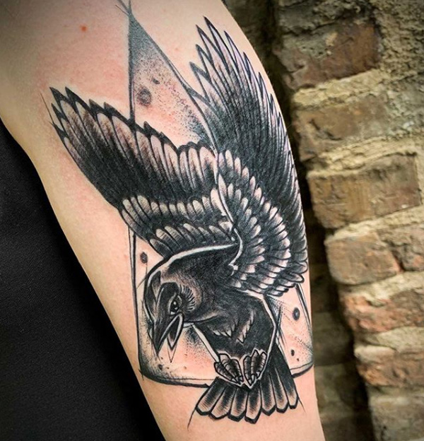 Crow Tattoo Designs Back.