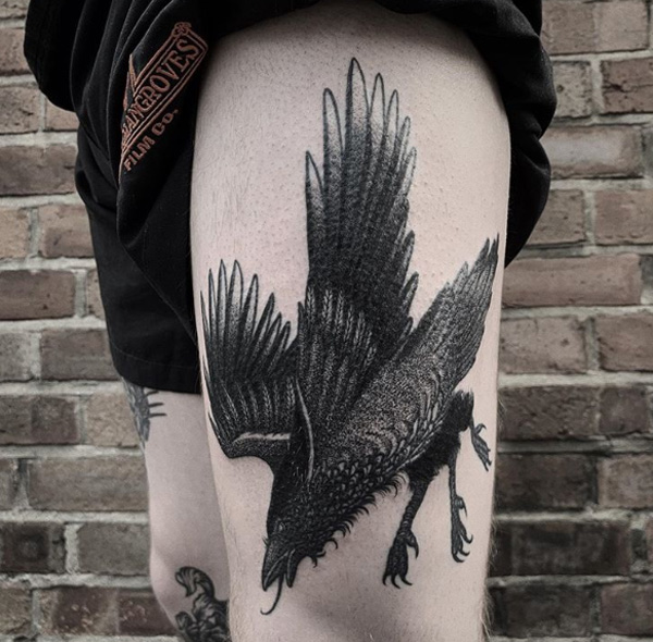 Bird Tattoos The Black Crow.