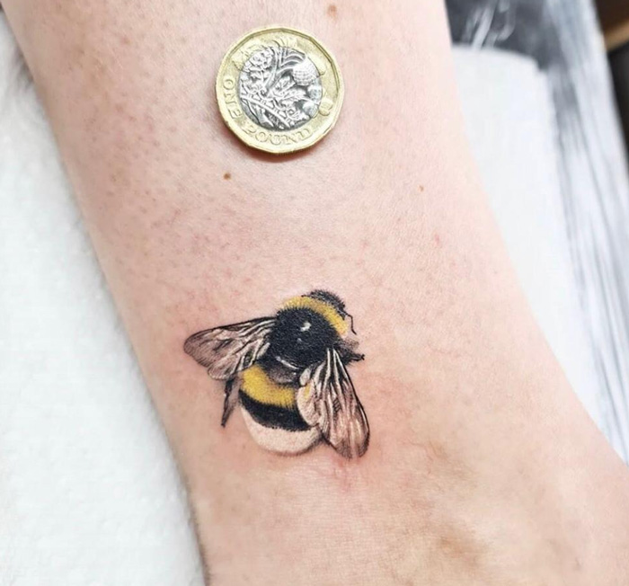 Small Bee Tattoo.