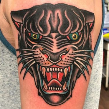 Panther Head Tattoos
